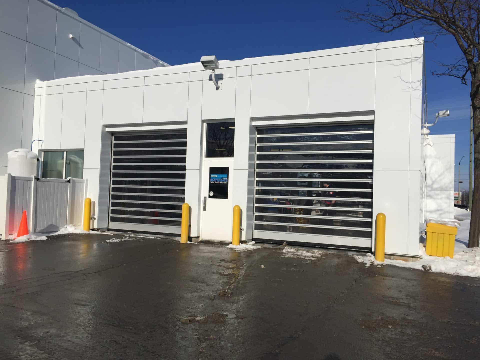 Auto dealership high performance door